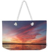Fire On The Lake Weekender Tote Bag