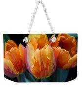 Fire Orange Tulip Flowers Weekender Tote Bag