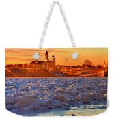 Fire Over The Clinton County Courthouse Weekender Tote Bag