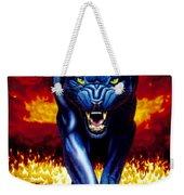 Fire Panther Weekender Tote Bag