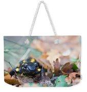 Fire Salamander Dry Leaves Weekender Tote Bag