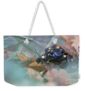Fire Salamander Front View Weekender Tote Bag