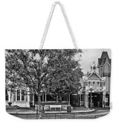 Fire Station Main Street In Black And White Walt Disney World Weekender Tote Bag