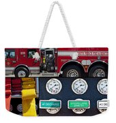Fire Truck With Isolated Views Weekender Tote Bag