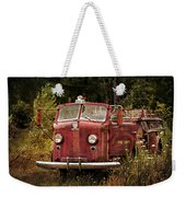 Fire Truck With Texture Weekender Tote Bag
