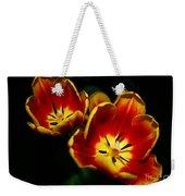 Fire Tulip Flowers Weekender Tote Bag
