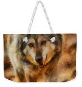 Fire Wolf Weekender Tote Bag