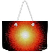 Fireball Sunburst A Tiffany Look Stain Glass Weekender Tote Bag