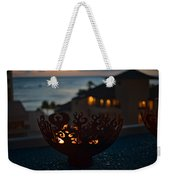 Firebowl At Night Weekender Tote Bag