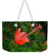 Firecraker Hibiscus Flower Weekender Tote Bag