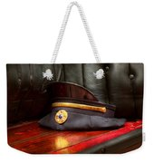 Firefighter - Hat - The Ex Chiefs Hat Weekender Tote Bag by Mike Savad