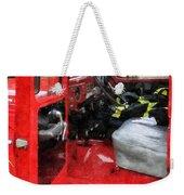 Fireman - Fire Truck With Fireman's Uniform Weekender Tote Bag