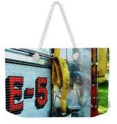 Fireman - Hose In Bucket On Fire Truck Weekender Tote Bag