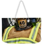 Fireman Turnout Gear Lieutenant Weekender Tote Bag