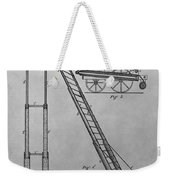 Fireman's Hydraulic Lift Patent Drawing Weekender Tote Bag