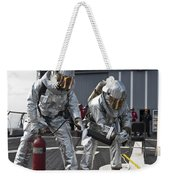 Firemen Confirm A Simulated Fire Weekender Tote Bag