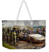 Firemen - The Fire Demonstration Weekender Tote Bag by Mike Savad