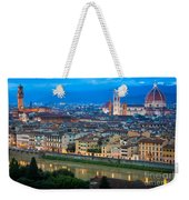 Firenze By Night Weekender Tote Bag by Inge Johnsson