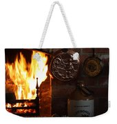 Fireplace Weekender Tote Bag