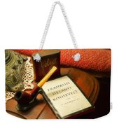 Fireside Chats With Fdr 05 With A Pipe And Book Weekender Tote Bag