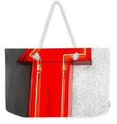 Firestone Building Red Neon T Weekender Tote Bag