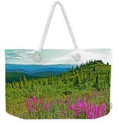Fireweed Near Top Of The World Highway-alaska Weekender Tote Bag