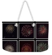 Fireworks - Black Background Weekender Tote Bag