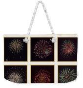 Fireworks - White Background Weekender Tote Bag