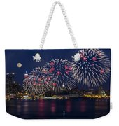 Fireworks And Full Moon Over New York City Weekender Tote Bag