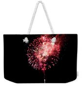 Fireworks Are Shot Off Over Lake Tahoe Weekender Tote Bag