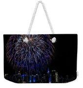 Fireworks In New York City Weekender Tote Bag by Susan Candelario