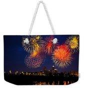 Fireworks In The City Weekender Tote Bag