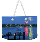 Fireworks Over Stony Creek Weekender Tote Bag by Brian Wallace