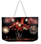Fireworks Over The Delaware Weekender Tote Bag by Nick Zelinsky