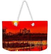 Firey Dawn Over The Marsh Weekender Tote Bag