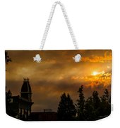 Firey Sunset Over Grants Pass Weekender Tote Bag