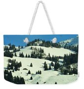 Firs Decoration Winterscape Weekender Tote Bag