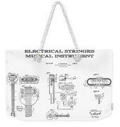First Electric Guitar Patent Art  1937 Weekender Tote Bag