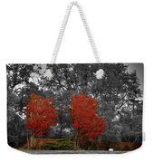 First Fall Color In Red Weekender Tote Bag