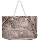 First Fall Of Snow Weekender Tote Bag