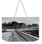 First Footsteps In The Snow Weekender Tote Bag