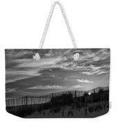 First Light At Cape Cod Beach Bw Weekender Tote Bag