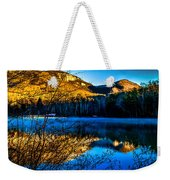 First Light At Pinnacle Lake Weekender Tote Bag