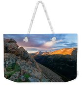 First Light On The Mountain Weekender Tote Bag