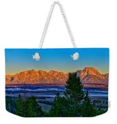 First Light On The Tetons Weekender Tote Bag