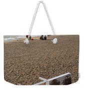 First On The Beach At Bethany Beach In Delaware Weekender Tote Bag