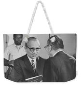 First Recorded Peace Treaty Weekender Tote Bag