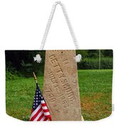 First Shot Monument Gettysburg Weekender Tote Bag by James Brunker