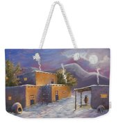 First Snow Weekender Tote Bag by Jerry McElroy