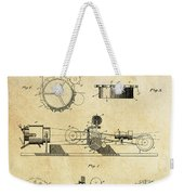 First True Motion Picture Projector Patent  1897 Weekender Tote Bag